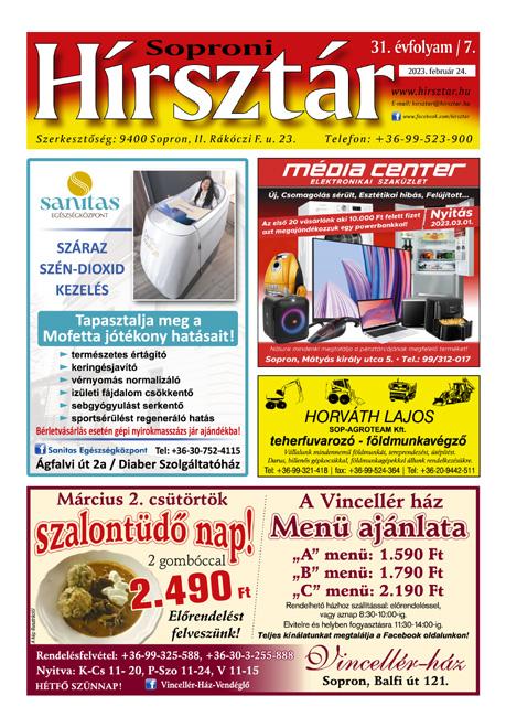 Soproni Hírsztár - újság megnyítása.